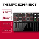 Akai Professional MPK Mini MKII LE Black | Black, Limited Edition 25 Key Portable USB MIDI Keyboard With 8 Backlit Performance Ready Pads, 8 Assignable Q Link Knobs & A 4 Way Thumbstick 3