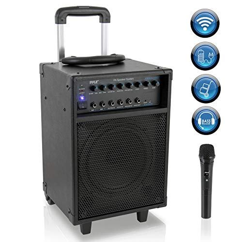Wireless Portable PA Speaker System - 400W Bluetooth Compatible Rechargeable