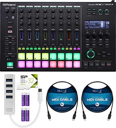 Roland Groovebox Sequencer Bundle with AC Adapter, Silicon Power