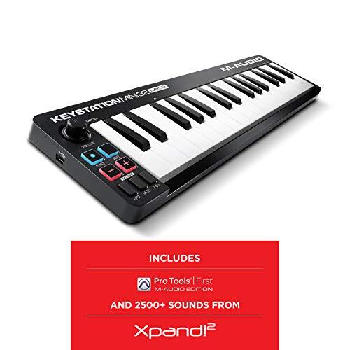 M Audio Keystation Mini 32 MK3   Ultra Portable Mini USB MIDI Keyboard