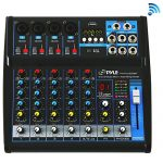 Pyle Professional Audio Mixer Sound Board Console – Desk System Interface with 6 Channel, USB, Bluetooth, Digital MP3 Computer Input, 48V Phantom Power, Stereo DJ Streaming & FX16 Bit DSP-(PMXU63BT)