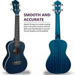Concert Ukulele Ranch 23 inch Professional Wooden ukelele Instrument with Free Online 12 Lessons and Gig Bag – Small Hawaiian Guitar – Starry Blue 1