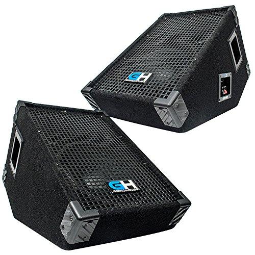 Grindhouse Speakers - Pair of 10 Inch Passive Wedge Floor / Stage Monitors