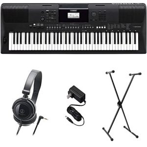 Yamaha Premium Keyboard Pack with Power Supply, Stand, and Headphones