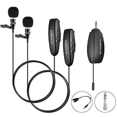 Wireless Lavalier Microphone System FerBuee Wireless Lapel Clip Microphones