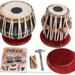 MAHARAJA Tabla Drum Set – Buy 3KG Black Brass Bayan, Finest Dayan with Book, Hammer, Cushions & Cover (PDI-EA)