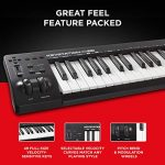 M Audio Keystation 49 MK3 | Compact Semi Weighted 49 Key MIDI Keyboard Controller with Assignable Controls, Pitch / Modulation Wheels and Software Production Suite included USB Powered 1