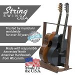 Walnut Guitar Rack String Swing CC34 Holder for Electric Acoustic and Bass Guitars – Stand Accessories for Home or Studio – Keeps Musical Instruments Safe without Hard Cases 1