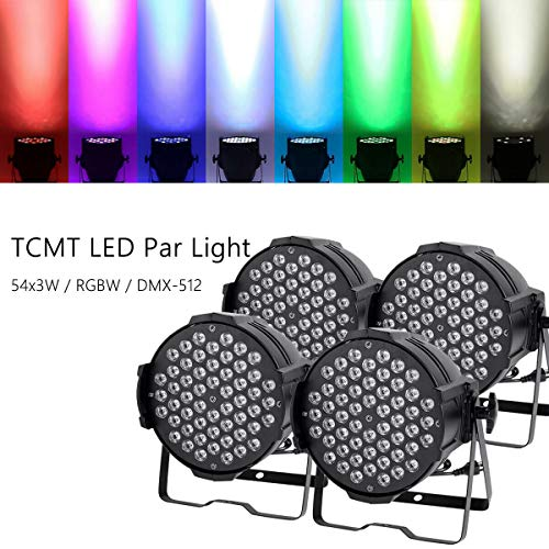 Tengchang 4Pcs 200w LED Stage Par 64 Light 8CH RGBW Stage Washer
