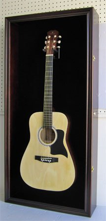 LARGE Acoustic Guitar Display Case Cabinet, Fit most Guitars