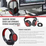 Blue Snowball Studio USB All-In-One Vocal Recording System with Samson Dynamic Headphones, Mic Pop Filter, and Fibertique Cloth 3
