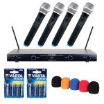 VocoPro Professional Quad VHF Wireless Microphone System