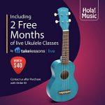 Hola! Music HM-21BU Soprano Ukulele Bundle with Canvas Tote Bag, Strap and Picks, Color Series, Blue 1