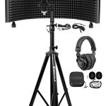 Rockville Recording Studio Microphone+Isolation Shield+Headphones