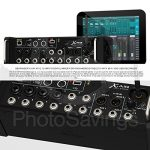 Behringer X Air XR12 Digital Mixer for iPad/Android Tablets with 12-Inputs Wi-Fi and USB +Accessory Bundle w/ 5X Cables, Fibertique Cloth 1