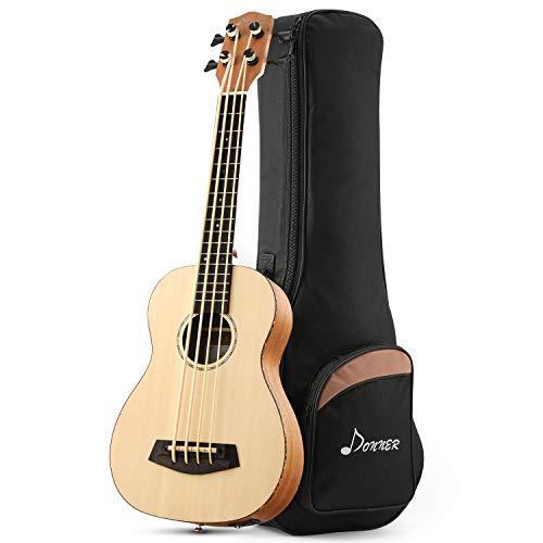 Donner 30 Inch Acoustic Electric Bass Ukulele Spruce Mahogany Body