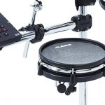 Alesis Command Mesh Kit   Electronic Drum Kit with Mesh Heads, Chrome Rack & Command Drum Module with 70 Kits, 600+ sounds 60 Play Along Tracks, Custom Sample Loading and USB/MIDI Connectivity 1