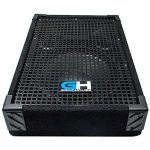 Grindhouse Speakers – GH10M-Pair – Pair of 10 Inch Passive Wedge Floor / Stage Monitors  300 Watts RMS each – PA/DJ Stage, Studio, Live Sound 10 Inch Monitor 2