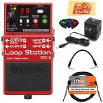 Boss Loop Station Bundle with Power Supply, Instrument Cable