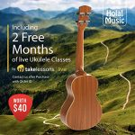 Concert Ukulele Bundle – LEFT HANDED, Deluxe Series by Hola! Music (Model HM-124LFT+), Bundle Includes: 24 Inch Mahogany Ukulele with Aquila Nylgut Strings Installed, Padded Gig Bag, Strap and Picks 2