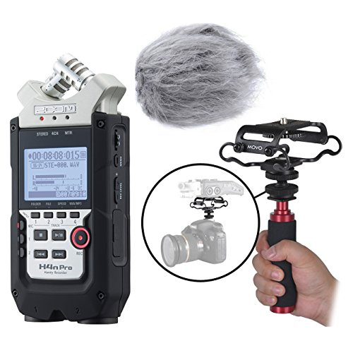 Zoom H4n PRO Multitrack Portable Digital Audio Recorder Bundle