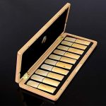 ROFFEE Woodwind Musical Instrument Parts Accessories Natural Color Maple Wood Saxophone Reed Case for 10 pcs Saxophone Reeds with Hygrometer 3