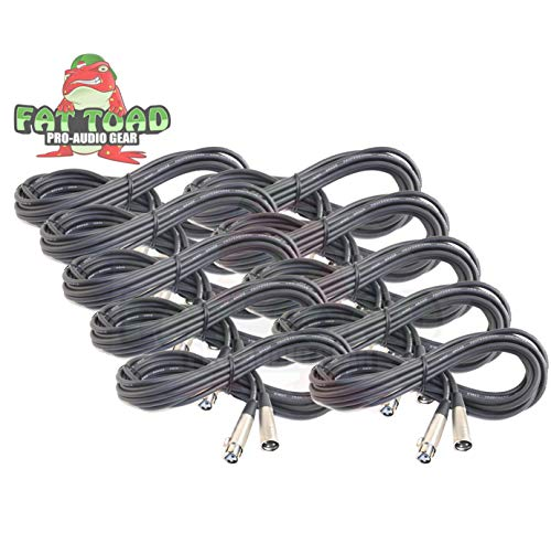 Microphone Cables by Fat Toad|(10 Pack) 20 ft Professional Pro Audio