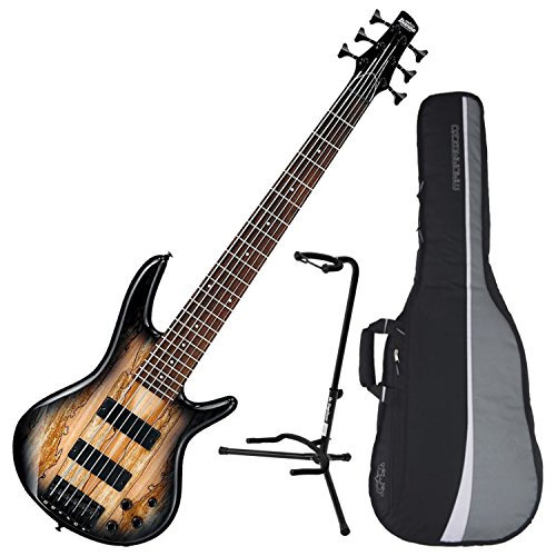Ibanez 6-String Electric Bass (Natural Grey Burst)