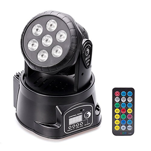 Moving Head Stage Effect Light U`King 7x10W 4 color RGBW LED