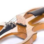 Cecilio 3/4 CEVN-1Y Solid Wood Electric/Silent Violin with Ebony Fittings in Style 1 – Yellow Maple Metallic 1