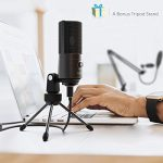 FIFINE Studio Condenser USB Microphone Computer PC Microphone Kit with Adjustable Scissor Arm Stand Shock Mount for Instruments Voice Overs Recording Podcasting YouTube Karaoke Gaming Streaming-T669 2
