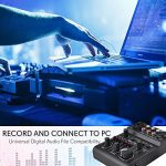 3 Channel Bluetooth Audio Mixer – DJ Sound Controller Interface with USB Soundcard for PC Recording, XLR, 3.5mm Microphone Jack, 18V Power, RCA Input/Output for Professional and Beginners – PAD30MXUBT 3