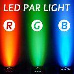 LED Par Light-Nurxiovo 4PCS DMX Stage Lights LED Par Lighting 18x3W Club Lighting Package Sound 7 Channel for Stage RGB Light Club DJ Party Diso Show KTV 1