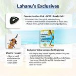Ukulele Concert Size Bundle From Lohanu (LU-C) 2 Strap Pins Installed FREE Uke Strap Case Tuner Picks Hanger Aquila Strings Installed Free Video Lessons BEST UKULELE BUNDLE DEAL Purchase Today! 3