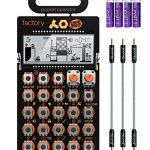 Teenage Engineering PO-16 Pocket Operator Factory Lead and Chord Synthesizer Bundle with Blucoil 3-Pack of 7″ Audio Aux Cables, and 4 AAA Batteries