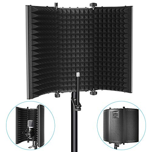 Neewer Microphone Isolation Shield - Foldable Tri-Fold Studio Mic Sound