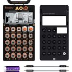 Teenage Engineering PO-16 Pocket Operator Factory Lead and Chord Synthesizer Bundle with CA-X Silicone Case, Blucoil 3-Pack of 7″ Audio Aux Cables, and 2 AAA Batteries