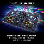 Numark Party Mix | Beginners DJ Controller for Serato DJ Intro With 2 Channels, Built In Audio Interface With Headphone Output, Pad Performance Controls, Crossfader, Jogwheels and Light Display 1