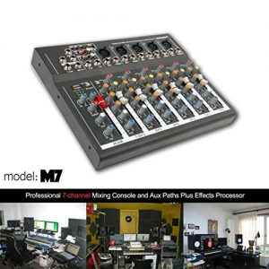 4/7 Channel Professional Powered Mixer Power Mixing Live Studio
