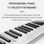 WYANAN Piano 61 Key Electric Keyboard Piano Portable Intelligent Piano Electronic Keyboard Easy to Carry Ultra-Thin Multifunctional Electronic Piano 3