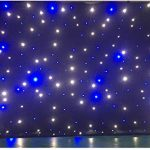 LED backdrop 3m x 4m Blue and white LED Star Curtain DMX Control for wedding event stage show 1