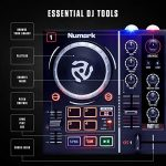 Numark Party Mix | Beginners DJ Controller for Serato DJ Intro With 2 Channels, Built In Audio Interface With Headphone Output, Pad Performance Controls, Crossfader, Jogwheels and Light Display 3