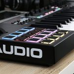 M-Audio Code 49 Black | 49-Key USB MIDI Keyboard Controller with X/Y Touch Pad (16 Drum Pads / 9 Faders / 8 Encoders) + Universal Pedal + Pro MIDI Cable + Label Kit – Top Value M-audio Accessory Kit!! 3