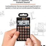 Teenage Engineering PO-16 Pocket Operator Factory Lead and Chord Synthesizer Bundle with Blucoil 3-Pack of 7″ Audio Aux Cables, and 4 AAA Batteries 3
