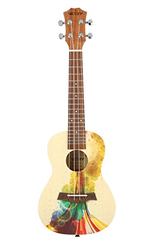 VIVICTORY Concert Ukulele 23 Inch Spruce Mahogany and Painting