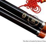 Premium Ebony Bawu Flute Chinese Ba Wu Pipe Woodwind Dual Pipe #108 – Pro Level 2