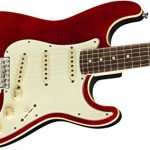 Fender Limited Edition Aerodyne Classic Flame Maple Top Stratocaster Electric Guitar (Crimson Red Transparent) 3