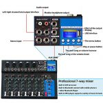 Depusheng 7 Channel USB Digital Karaoke Mixer Bluetooth Live Studio Audio Mixing Console Microphone Sound Card for DJ Wedding Party KTV 2