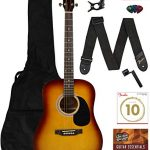 Fender Squier Dreadnought Acoustic Guitar - Sunburst Learn-to-Play Bundle