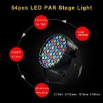 XPC LED Stage Lights 8pcs 54X3W LED DJ PAR Light RGBW 162Watt DMX 512 Stage Lighting Disco Projector for Home Wedding Party Church Concert Dance Floor Lighting 1